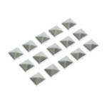 07214 DECOR-STUDS:BORCHIE CROMATE 15 PZ_10X10 MM
