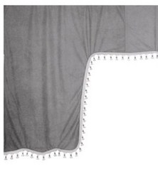 98627 ESKIMO:MICROFIBRE TRUCK CURTAIN SET_GREY