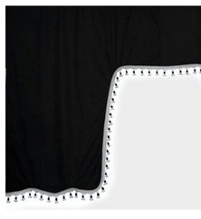 98628 ESKIMO:MICROFIBRE TRUCK CURTAIN SET_BLACK
