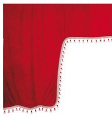 98629 ESKIMO:MICROFIBRE TRUCK CURTAIN SET_RED